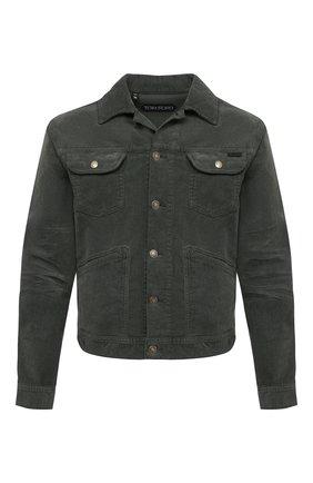 Мужская куртка TOM FORD хаки цвета, арт. BWJ39/TFD116 | Фото 1