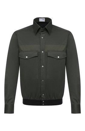 Мужская хлопковая рубашка ZILLI SPORT зеленого цвета, арт. MFU-7061-0002/0004/05/06 | Фото 1