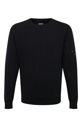 Мужской хлопковый свитшот C.P. COMPANY черного цвета, арт. 10CMSS045A-005086W | Фото 1 (Стили: Гранж; Рукава: Длинные; Материал внешний: Хлопок; Мужское Кросс-КТ: свитшот-одежда; Длина (для топов): Стандартные; Принт: Без принта)