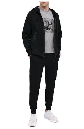 Мужские хлопковые джоггеры C.P. COMPANY черного цвета, арт. 10CMSP042A-005086W | Фото 2