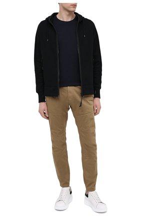 Мужские хлопковые брюки C.P. COMPANY бежевого цвета, арт. 10CMPA153A-005694G | Фото 2