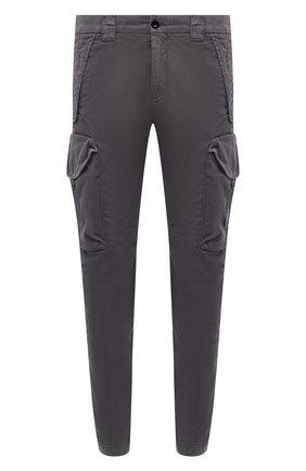 Мужские хлопковые брюки-карго C.P. COMPANY темно-серого цвета, арт. 10CMPA152A-005694G | Фото 1 (Случай: Повседневный; Материал внешний: Хлопок; Силуэт М (брюки): Карго; Стили: Гранж; Длина (брюки, джинсы): Стандартные)