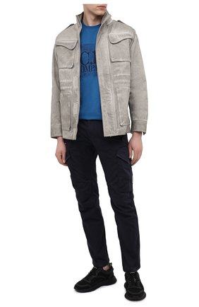 Мужские хлопковые брюки-карго C.P. COMPANY темно-синего цвета, арт. 10CMPA152A-005694G | Фото 2