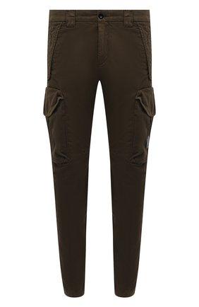 Мужские хлопковые брюки-карго C.P. COMPANY хаки цвета, арт. 10CMPA152A-005694G | Фото 1 (Материал внешний: Хлопок; Силуэт М (брюки): Карго; Случай: Повседневный; Длина (брюки, джинсы): Стандартные; Стили: Гранж)