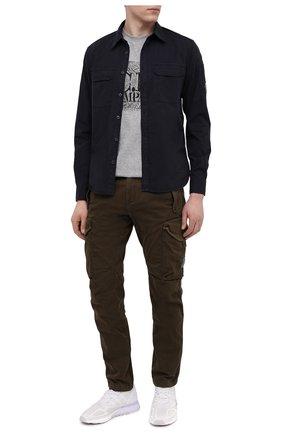 Мужские хлопковые брюки-карго C.P. COMPANY хаки цвета, арт. 10CMPA152A-005694G | Фото 2 (Материал внешний: Хлопок; Силуэт М (брюки): Карго; Случай: Повседневный; Длина (брюки, джинсы): Стандартные; Стили: Гранж)