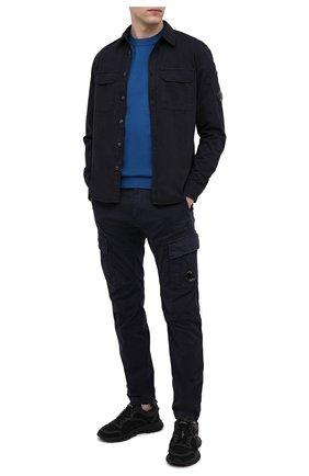 Мужские хлопковые брюки-карго C.P. COMPANY темно-синего цвета, арт. 10CMPA151A-005694G | Фото 2