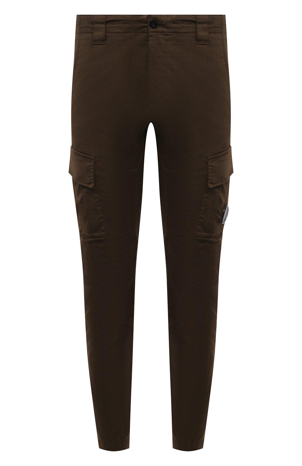 Мужские хлопковые брюки-карго C.P. COMPANY хаки цвета, арт. 10CMPA151A-005694G | Фото 1 (Силуэт М (брюки): Карго; Длина (брюки, джинсы): Стандартные; Случай: Повседневный; Стили: Гранж; Материал внешний: Хлопок)