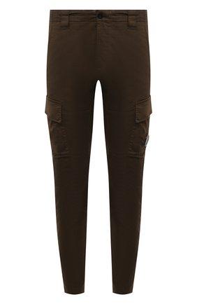 Мужские хлопковые брюки-карго C.P. COMPANY хаки цвета, арт. 10CMPA151A-005694G | Фото 1 (Стили: Гранж; Случай: Повседневный; Силуэт М (брюки): Карго; Материал внешний: Хлопок; Длина (брюки, джинсы): Стандартные)