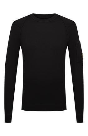 Мужской хлопковый джемпер C.P. COMPANY черного цвета, арт. 10CMKN146A-004037A | Фото 1
