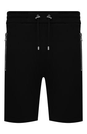 Мужские хлопковые шорты BALMAIN черного цвета, арт. VH10A000/B072   Фото 1