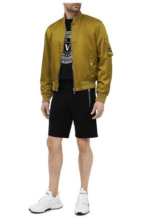 Мужские хлопковые шорты BALMAIN черного цвета, арт. VH10A000/B072   Фото 2