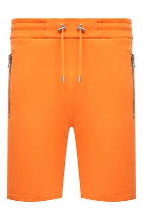 Мужские хлопковые шорты BALMAIN оранжевого цвета, арт. VH10A000/B072 | Фото 1