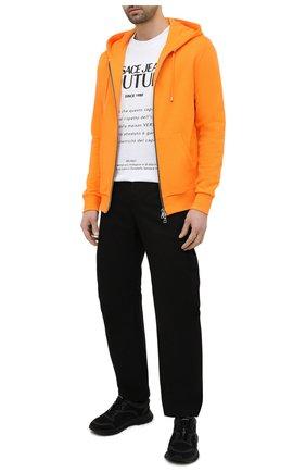 Мужской хлопковая толстовка BALMAIN оранжевого цвета, арт. VH1JR010/B025 | Фото 2