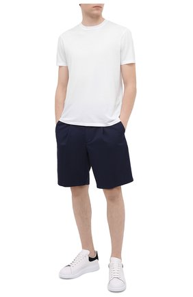Мужские хлопковые шорты GIORGIO ARMANI синего цвета, арт. 0SGPB00E/T02EY | Фото 2