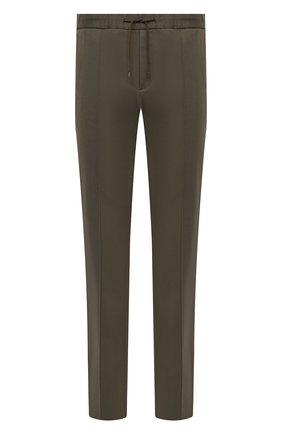 Мужские хлопковые брюки VALENTINO хаки цвета, арт. VV3RB5224NH | Фото 1 (Случай: Повседневный; Материал внешний: Хлопок; Стили: Кэжуэл; Длина (брюки, джинсы): Стандартные)
