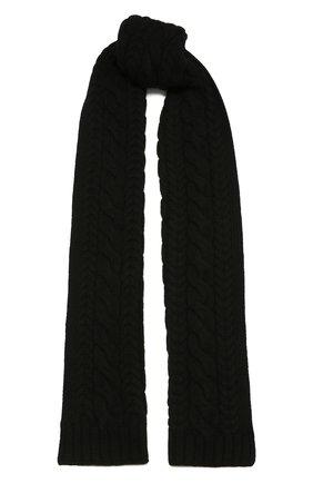Мужской кашемировый шарф RALPH LAUREN черного цвета, арт. 790782226 | Фото 1