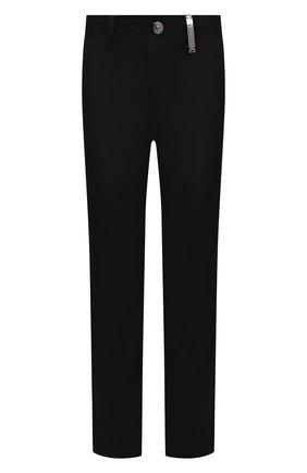 Мужские хлопковые брюки BURBERRY черного цвета, арт. 8036531 | Фото 1