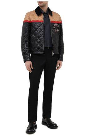 Мужские хлопковые брюки BURBERRY черного цвета, арт. 8036531 | Фото 2