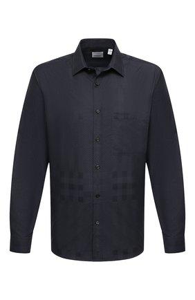 Мужская хлопковая рубашка BURBERRY серого цвета, арт. 8036777 | Фото 1