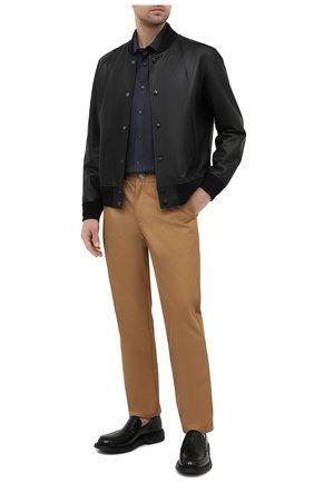 Мужская хлопковая рубашка BURBERRY серого цвета, арт. 8036777 | Фото 2
