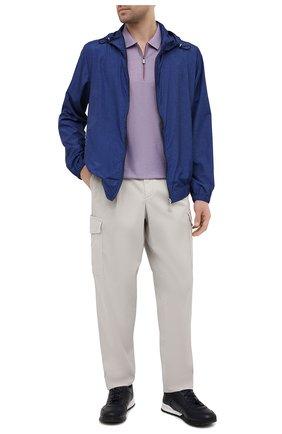 Мужские кожаные кроссовки KITON темно-синего цвета, арт. USSVLAEN00648/12-16 | Фото 2
