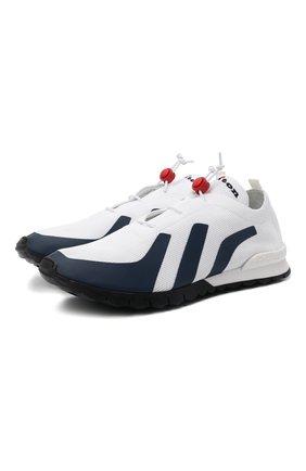 Мужские текстильные кроссовки KITON белого цвета, арт. USSTICKN00650 | Фото 1
