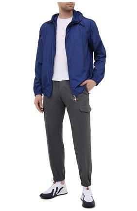 Мужские текстильные кроссовки KITON белого цвета, арт. USSTICKN00650 | Фото 2