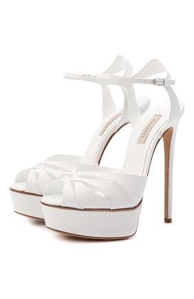Женские кожаные босоножки felina CASADEI белого цвета, арт. 1L746S1401FL0RE9999 | Фото 1