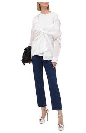 Женские кожаные босоножки felina CASADEI белого цвета, арт. 1L746S1401FL0RE9999 | Фото 2