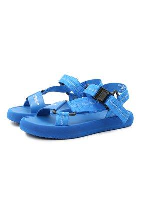 Женские текстильные сандалии OFF-WHITE синего цвета, арт. 0WIH007R21FAB0014500 | Фото 1