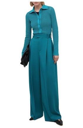 Женский кардиган BOTTEGA VENETA бирюзового цвета, арт. 648977/V0BN0 | Фото 2