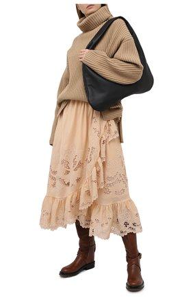 Женская хлопковая юбка ZIMMERMANN бежевого цвета, арт. 9881SBRG | Фото 2