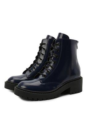 Женские кожаные ботинки city KENZO синего цвета, арт. FB52BT340L67 | Фото 1
