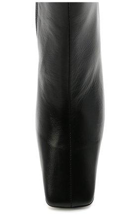 Женские кожаные ботильоны lange BY FAR черного цвета, арт. 20PFLNGBBLCRE | Фото 5