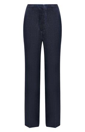 Женские льняные брюки KITON синего цвета, арт. D47105K09T40 | Фото 1
