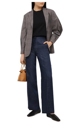 Женские льняные брюки KITON синего цвета, арт. D47105K09T40 | Фото 2