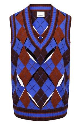 Женский жилет BURBERRY темно-синего цвета, арт. 8038108 | Фото 1