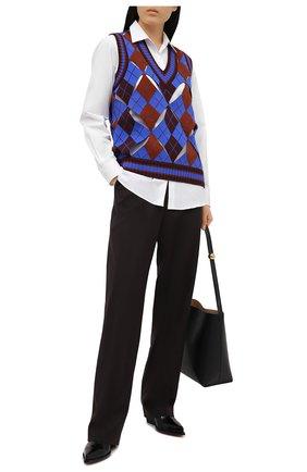Женский жилет BURBERRY темно-синего цвета, арт. 8038108 | Фото 2