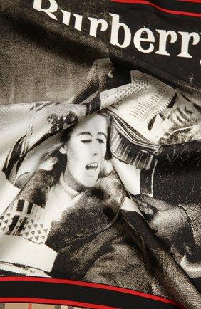 Женский шелковый платок BURBERRY бежевого цвета, арт. 8037470   Фото 2