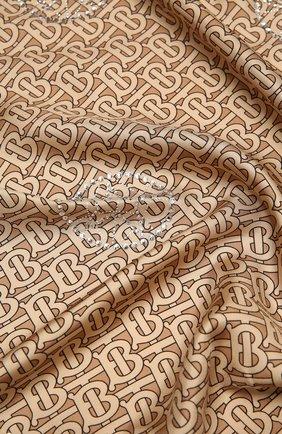 Женский шелковый платок BURBERRY бежевого цвета, арт. 8037155   Фото 2