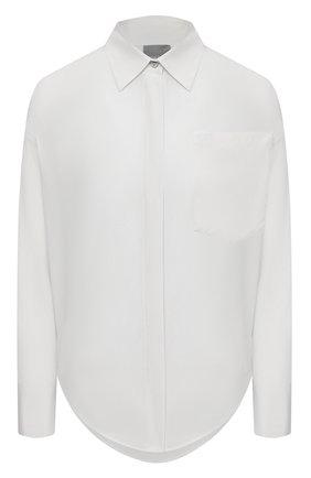 Женская шелковая рубашка LORENA ANTONIAZZI серого цвета, арт. P2154CA001/3186   Фото 1