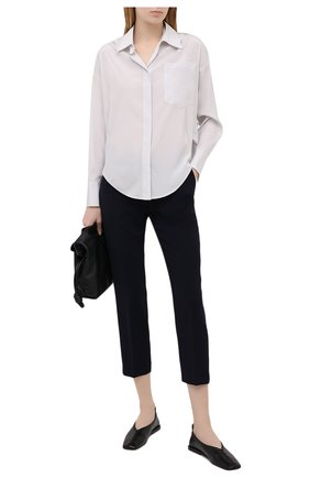 Женская шелковая рубашка LORENA ANTONIAZZI серого цвета, арт. P2154CA001/3186   Фото 2