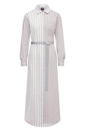 Женское хлопковое платье LORENA ANTONIAZZI кремвого цвета, арт. P2134AB017/3355 | Фото 1