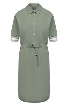 Женское хлопковое платье LORENA ANTONIAZZI зеленого цвета, арт. P2132AB063/3434 | Фото 1
