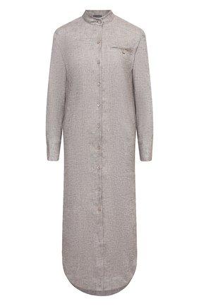 Женское платье из льна и вискозы LORENA ANTONIAZZI бежевого цвета, арт. P2117AB019/3377 | Фото 1