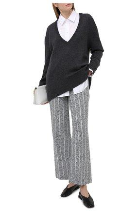 Женские льняные брюки LORENA ANTONIAZZI синего цвета, арт. P2113PA016/3423 | Фото 2
