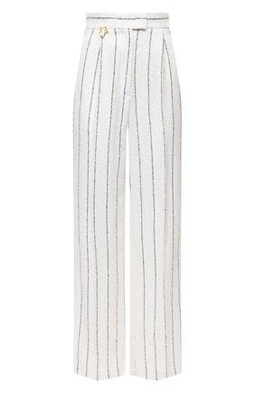 Женские льняные брюки LORENA ANTONIAZZI кремвого цвета, арт. P2113PA016/3423 | Фото 1