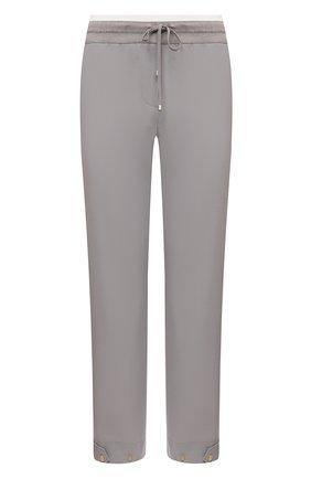 Женские шерстяные брюки LORENA ANTONIAZZI серого цвета, арт. P2108PA047/3180 | Фото 1