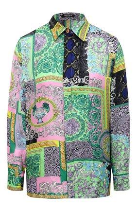 Женская шелковая рубашка VERSACE разноцветного цвета, арт. A82662/1F00456 | Фото 1