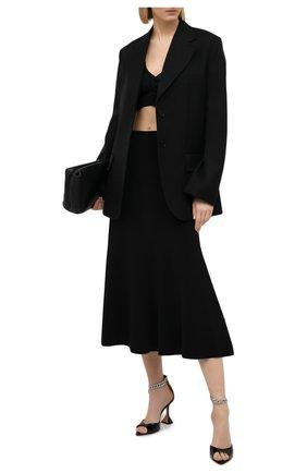 Женский шерстяной кардиган VERSACE черного цвета, арт. A88423/A237513 | Фото 2